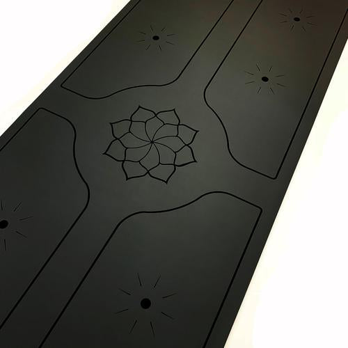 Bhoga Premium Lotus Sun Alignment Yoga Mat - Black | Prosportsae