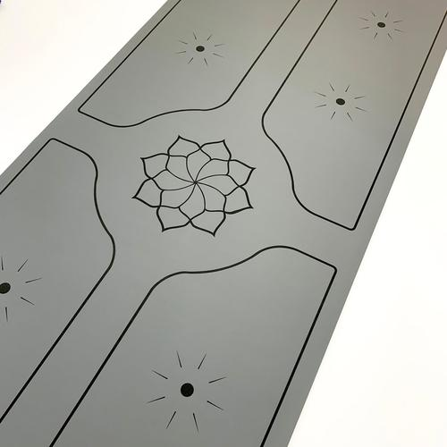 Bhoga Premium Lotus Sun Alignment Yoga Mat - Grey | Prosportsae