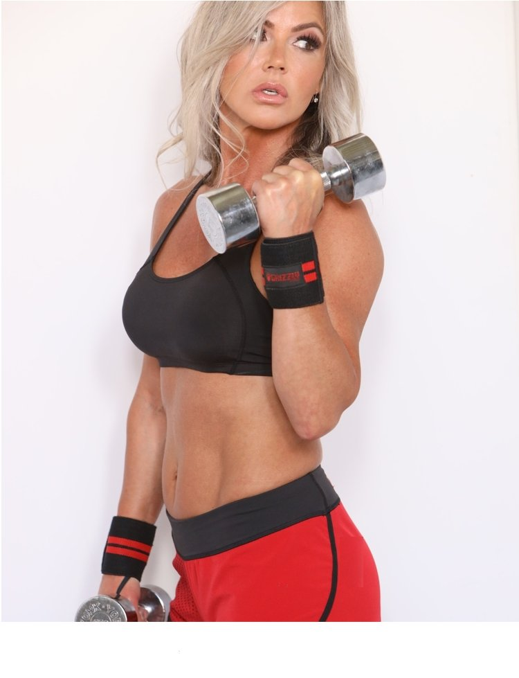 "Grizzly 3"" Premium Red Line Weight Lifting Wrist Wraps for Men and Women UAE - Prosportsae.com"
