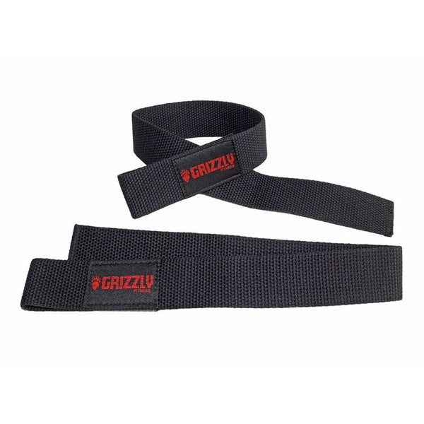 Grizzly Fitness Cotton and Nylon Weight Lifting Wrist Straps for Men and Women (One-Size) UAE - Prosportsae.com