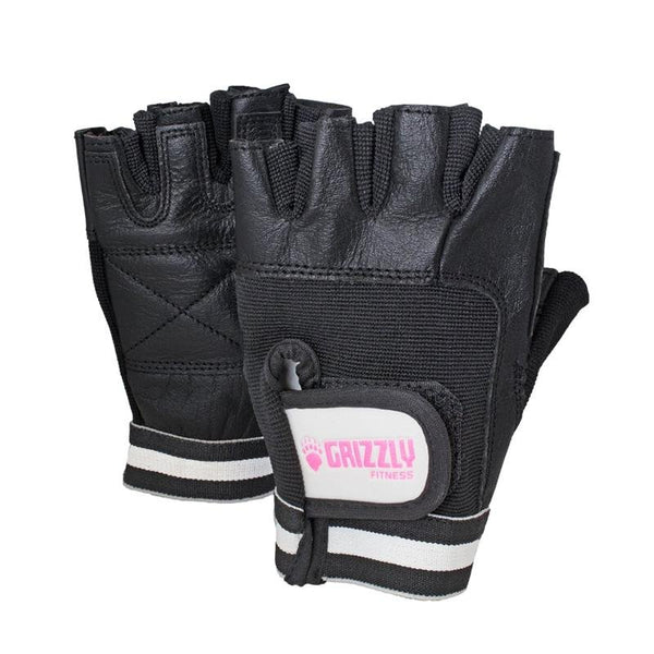 Grizzly Paw Premium Leather Padded Weight Training Gloves for Women - Black - Prosportsae.com