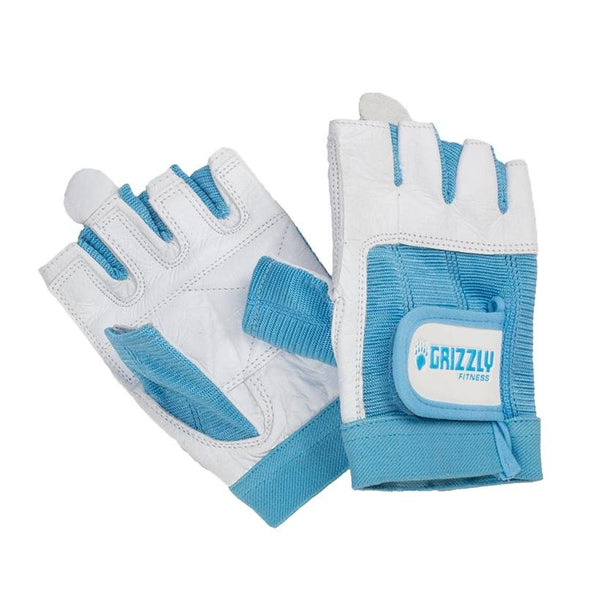 Grizzly Paw Premium Leather Padded Weight Training Gloves for Women - Blue UAE - Prosportsae.com