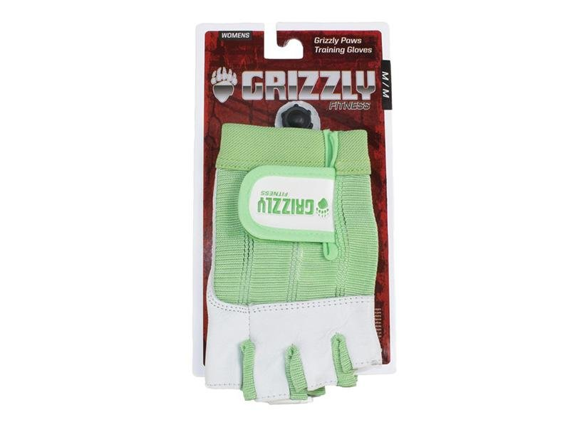 Grizzly Paw Premium Leather Padded Weight Training Gloves for Women - Green - Prosportsae.com