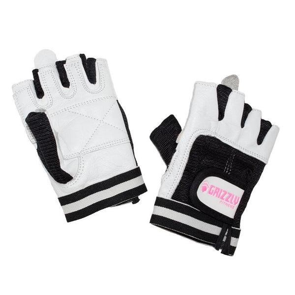 Grizzly Paw Premium Leather Padded Weight Training Gloves for Women - White - Prosportsae.com