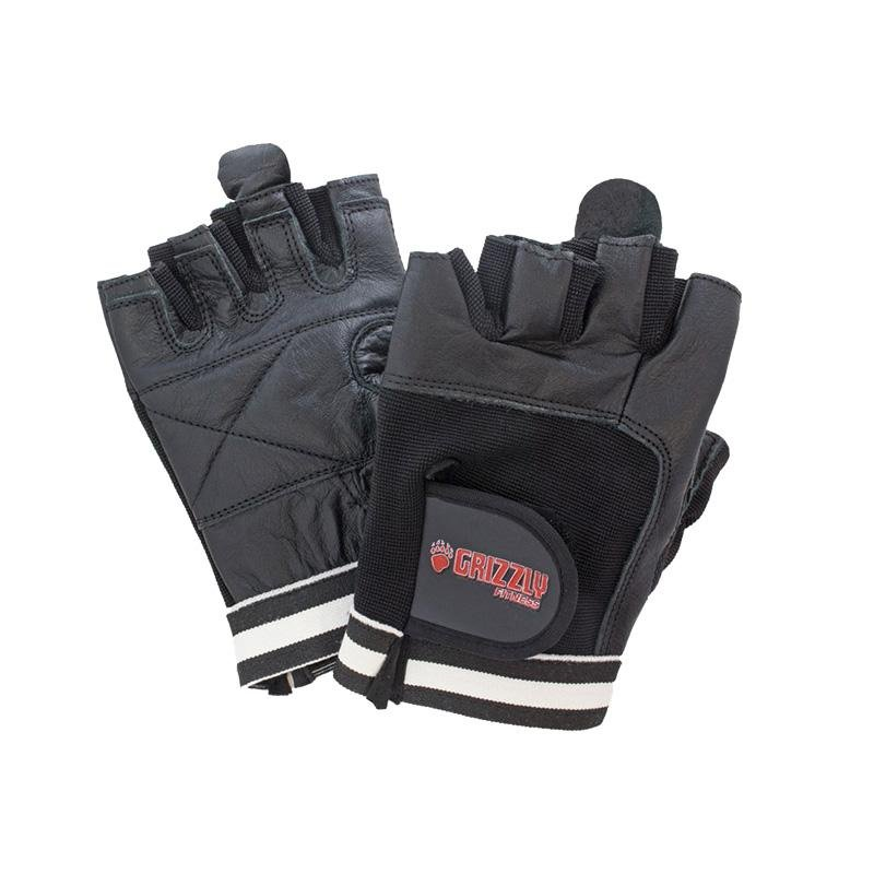 Grizzly Paw Premium Leather Padded Weight Training Gloves - Men (Black) - Prosportsae.com
