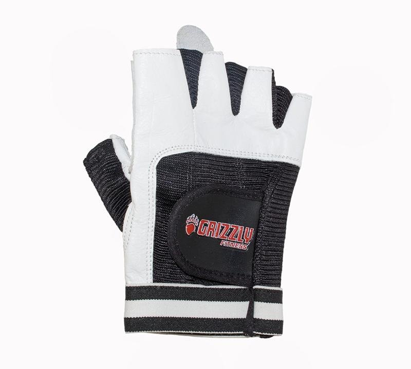 Grizzly Paw Premium Leather Padded Weight Training Gloves Men - (White) - Prosportsae.com