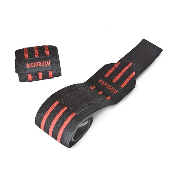 "Grizzly Pro 3"" Heavy Duty Red Line Weight Lifting Wrist Wraps for Men and Women UAE - Prosportsae.com"