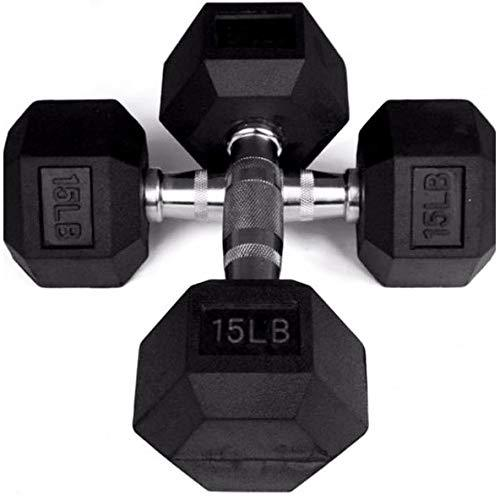Prosportsae Rubber Hex Dumbbells | Sold In Pairs (2 Pcs) | Weight in LBS | Tough & Durable | Chrome Plated Economical Handle - Prosportsae.com