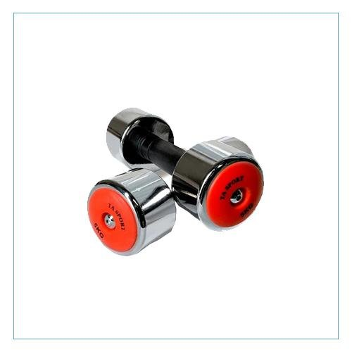 Round Chrome Dumbbell | Sold as Pair | TA Sports - Prosportsae.com