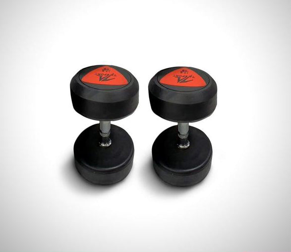 TA Sports Round Head Deluxe Rubber Dumbbells - Sold as Pair (2 pcs)