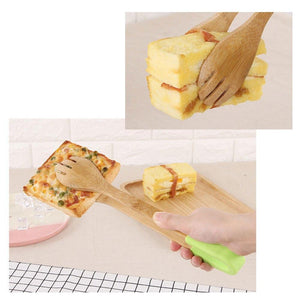 Kitchen Bamboe Clip Grip Serveertang