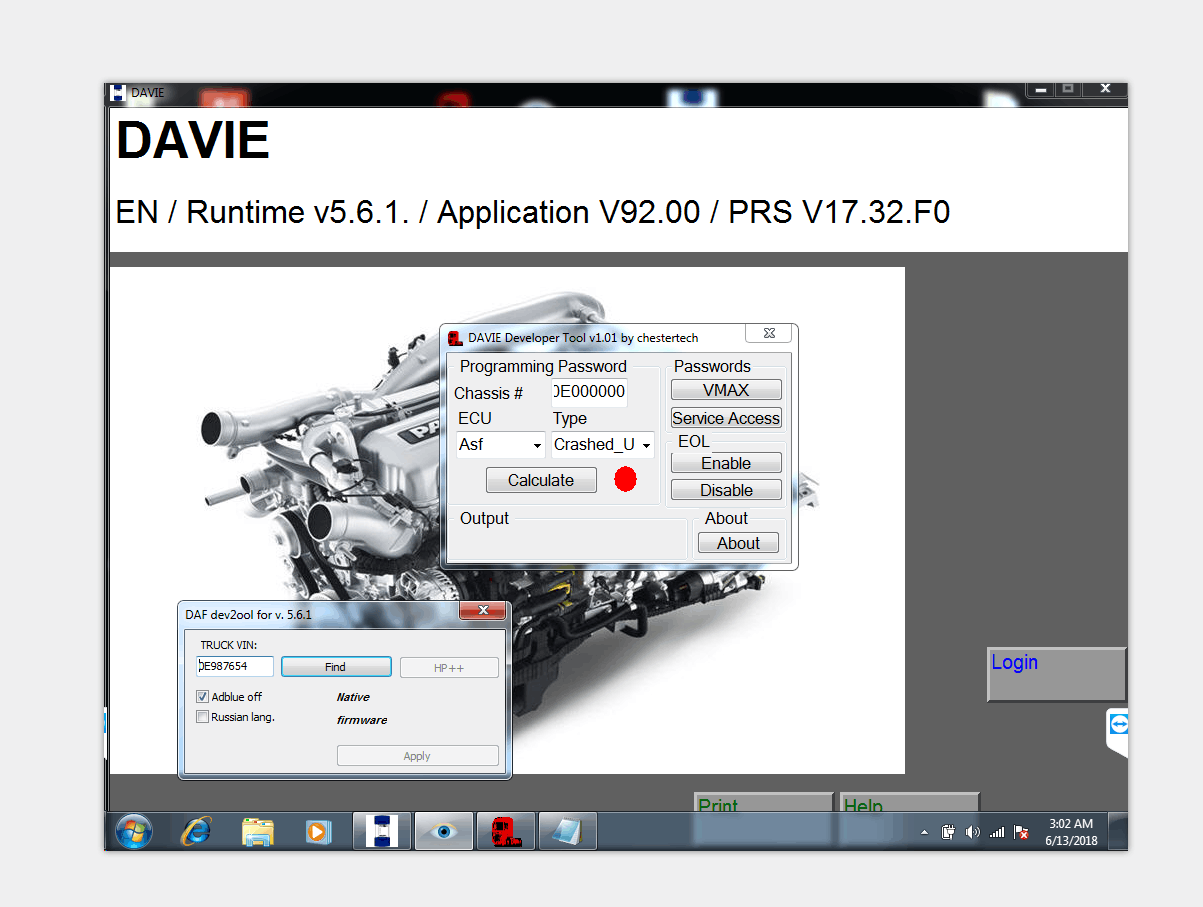 DAF DAVIE DEVELOPER TOOL