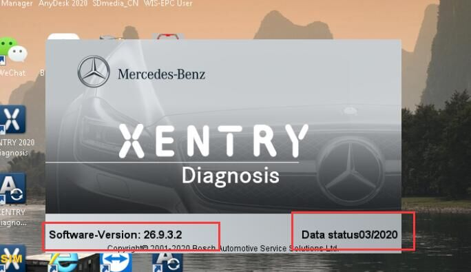 VXDIAG Benz Software: 2020.3