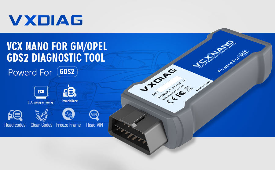 VXDIAG VCX NANO GDS2 and TIS2WEB for GM/OPEL Diagnostic Tool