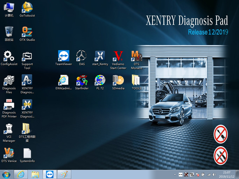 MB Star diagnostic Xentry software