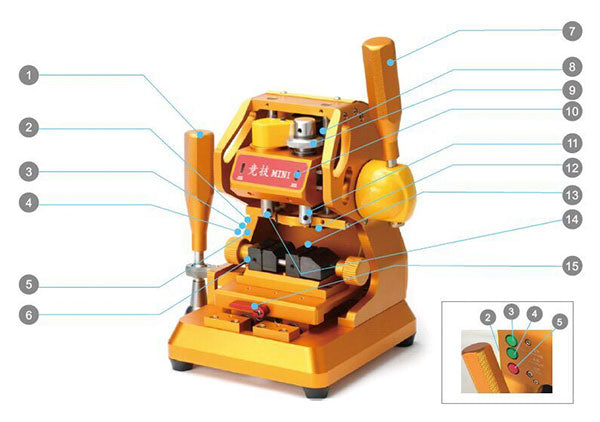 JINGJI MINI Vertical Key Cutting Machine outlook