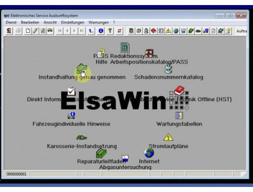 ELSAWIN 6.0 software