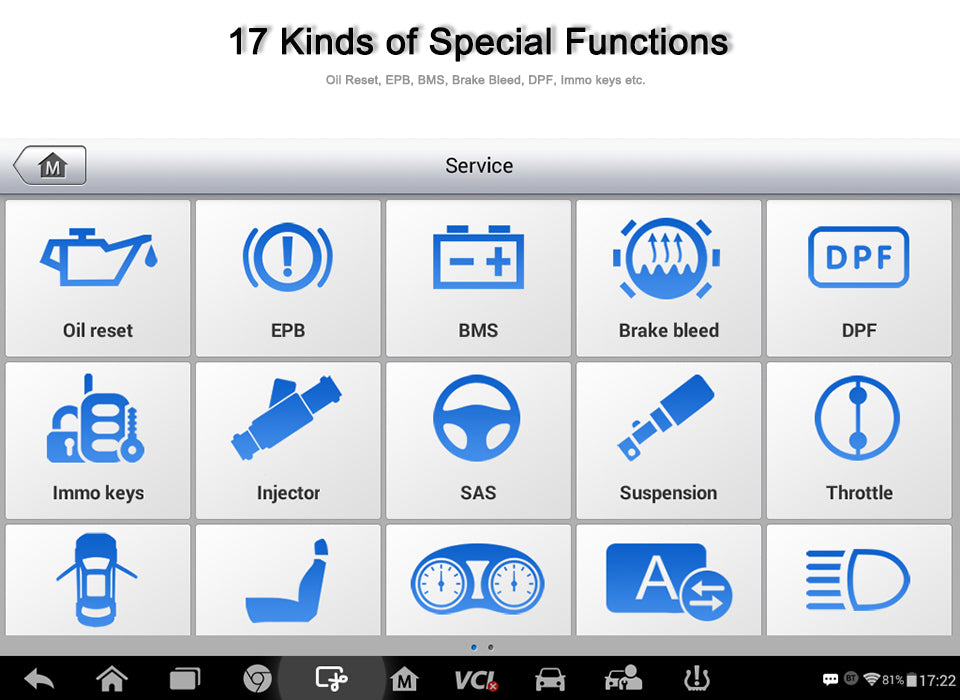 MP808TS support special functions