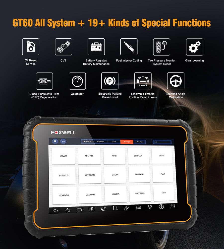 Foxwell GT60 Android Tablet Full System Scanner