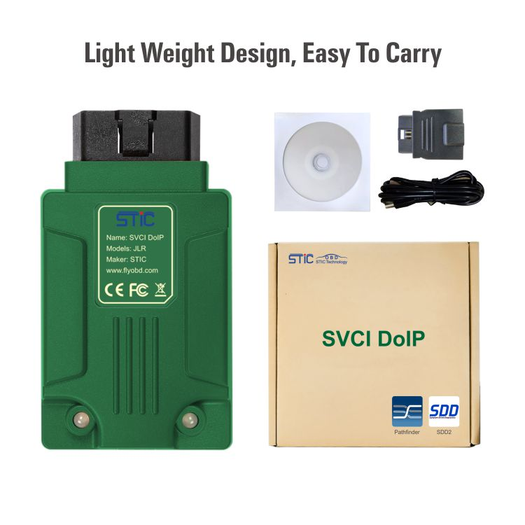 STC SVCI DoIP for Jaguar Land Rover Diagnostic Tool with PATHFINDER & JLR  SDD V156 Software Support JLR from 2005 to 2019 Online Programming