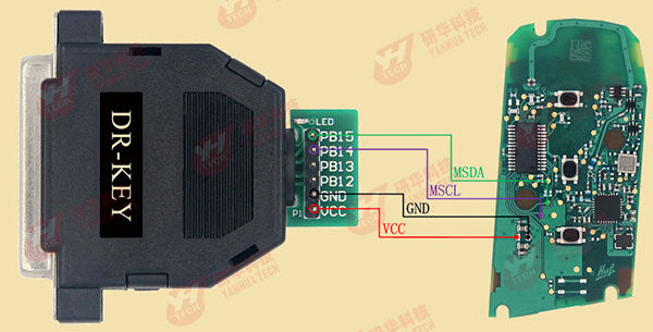 For BMW F Series CAS4+ Blade key 433MHZ wiring diagram:
