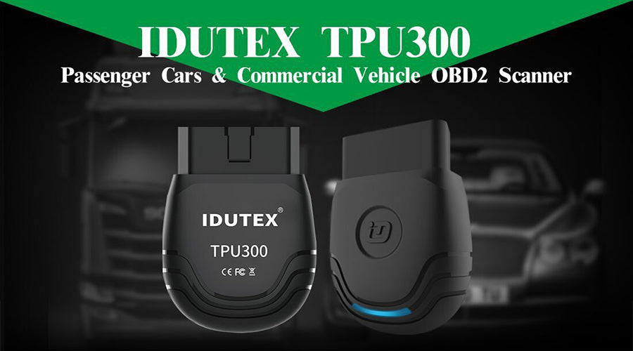IDUTEX TPU300 Passenger Cars & Commercial Vehicle OBD2 Scanner Supports  Android