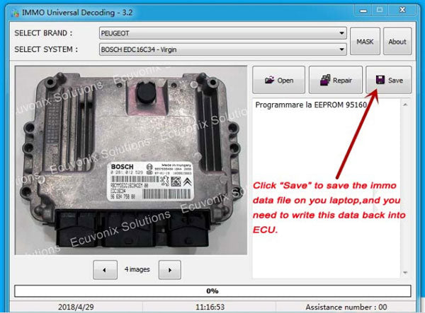 IMMO Universal Decoding Remove the IMMO Code of ECU