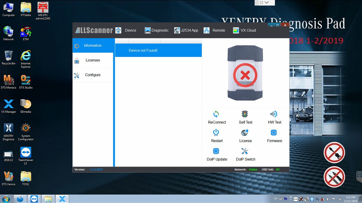 OEM C6 XENTRY Software V2019.12