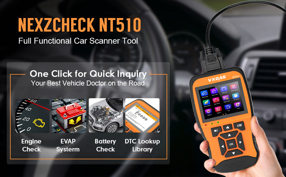 VXDAS NT510 Full System Car Diagnostic Tool Supports All OBD2 Functions  support Multi Language