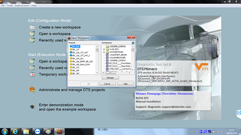 MB Star Diagnostic Xentry Software V2020.03 Version Win7 64bit System Installed HDD/SSD for Mercedes