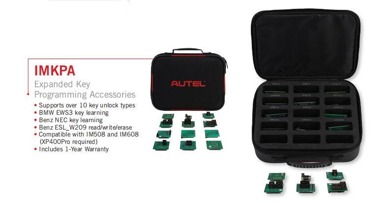Autel IMKPA Expanded Key Programming Accessories Kit Work With XP400Pro & IM608 Pro Programmer