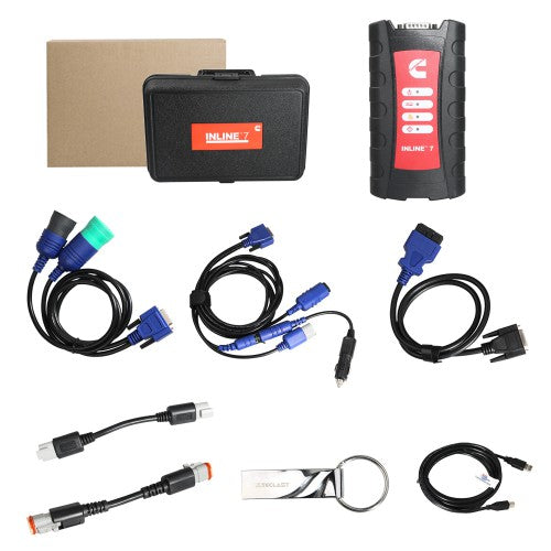 Cummins INLINE 7 Data Link Adapter Truck Diagnostic Tool With Insite 8 3  Software Support Multi-language Send 1 Time Free Activation