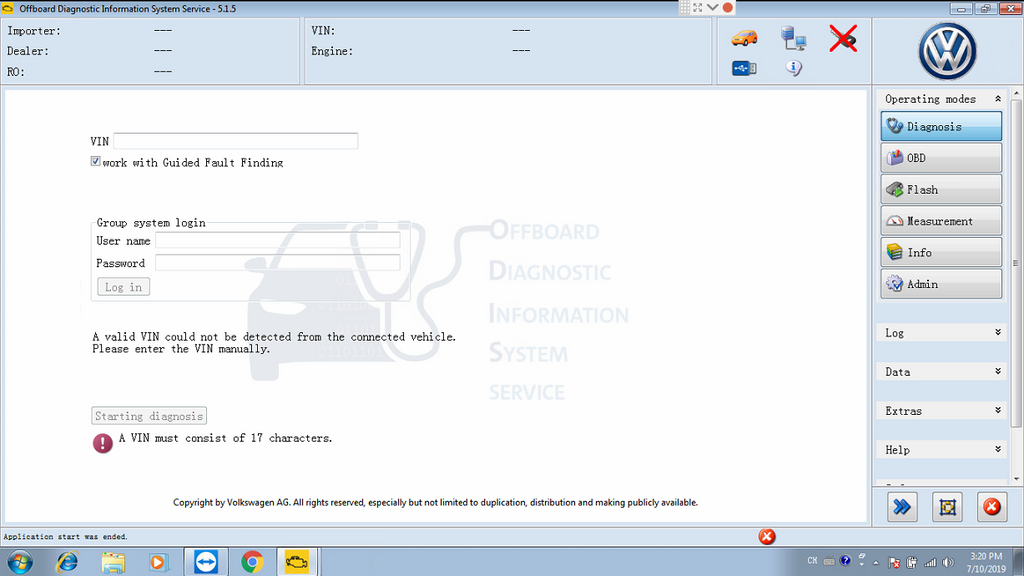 ODIS 5.1.5 for VAG Diagnostic & Programming
