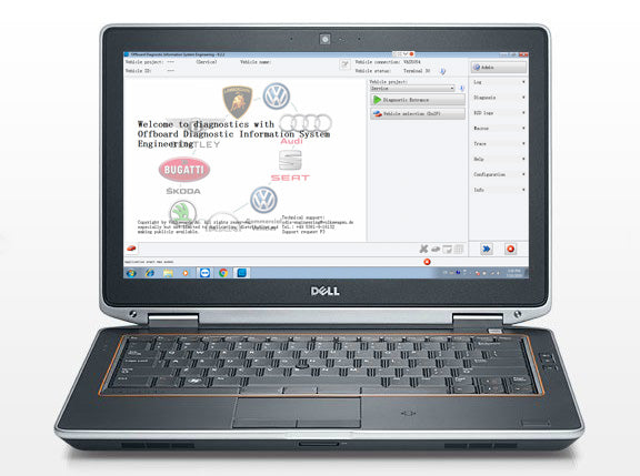 DELL E6420 laptop installed ODIS software