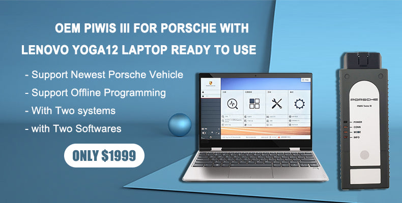 OEM PIWIS III for Porsche with V38.90 Piwis Software Installed on Lenovo Yoga12 i5 8g Touch Screen Laptop