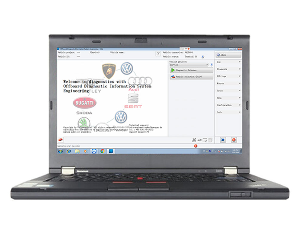 Lenovo T420 Laptop installed ODIS 256G SSD Software V5.15