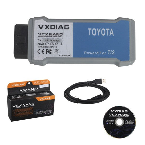 VXDIAG VCX NANO for TOYOTA Packing List - VXDAS