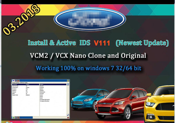 For Ford VCM IDS V111 Full Software Install By Software HDD or SDD