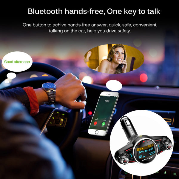 USB OFF Audio Car Receiver V4.0 MP3 TF Transmitter for JINSERTA X Charger AUX Bluetooth music iPhone Power ON Play FM Player - VXDAS Official Store