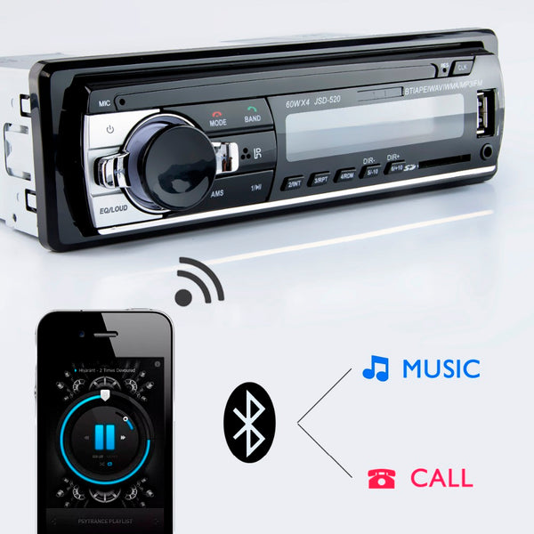 MP3 Player FM Radio Car Audio Stereo Music USB SD Bluetooth Digital with In Dash AUX Input Slot - VXDAS Official Store