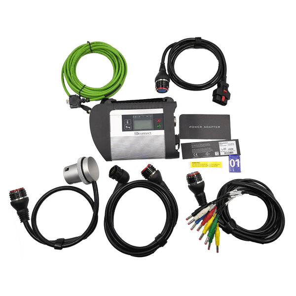 Star Diagnosis SD Connect MB Star C4 Multiplexer Support Diagnosis & Programming for Benz Car & Trucks Till 2019.12