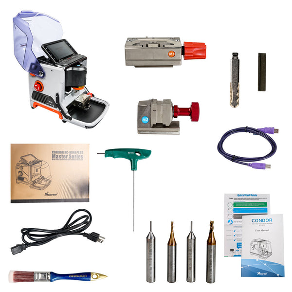 Xhorse Condor MINI Plus Cutting Machine with VVDI MB BGA Tool Benz Key Programmer Get One Free BGA Token Everyday - VXDAS Official Store