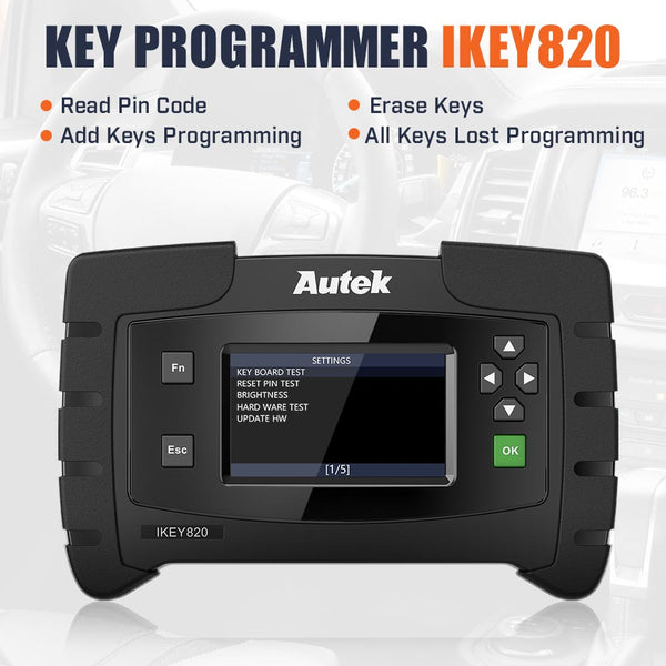 Original Autek IKey820 OBD2 Car Key Programmer Support All Key Lost No Token Limitation - VXDAS Official Store