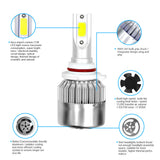 C6 Car LED Headlights Super Bright Far And Near Universal Light Bulb with Waterproof Dustproof High Temperature Feature - VXDAS Official Store