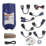 VXTRUCKS V8 USB link Bluetooth Heavy Duty Diagnose Interface with All Adapters