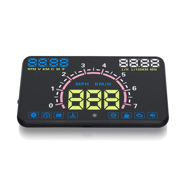 VXDAS Car Styling Auto HUD head up display Car-styling HUD E350 5.8 Inch Screen With Multi-Functions KM/h Overspeed Warning RPM - VXDAS Official Store