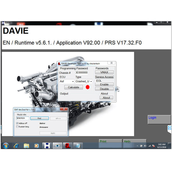 DAF DAVIE Developer Tool Plus DAF DAVIE(DEVIK) for Adblue Removal Work with DAF VCI Lite - VXDAS Official Store