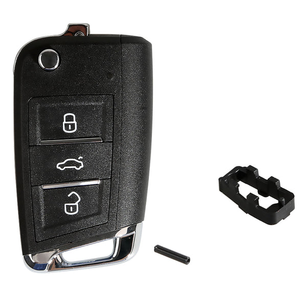 Xhorse VW MQB Flip Style Transponder Key with 3 Regular Buttons - VXDAS Official Store