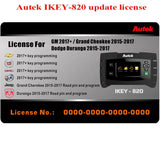 Autek IKEY820 New License for GM, Grand Cheokee and Dodge Durango Key Programming - VXDAS Official Store