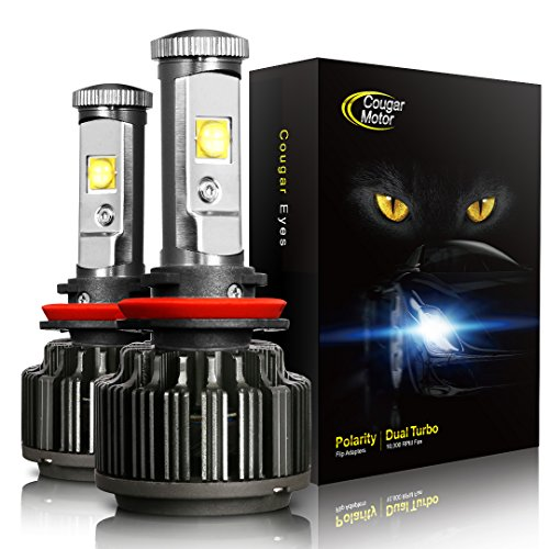 Cougar Motor LED Headlight Bulbs All-in-One Conversion Kit - H11 (H8, H9) -7,200Lm 6000K Cool White CREE - VXDAS Official Store
